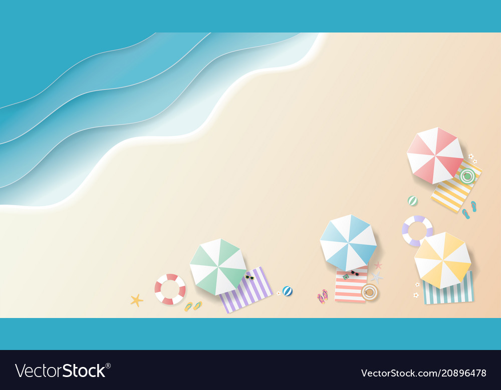 Summer background paper art style