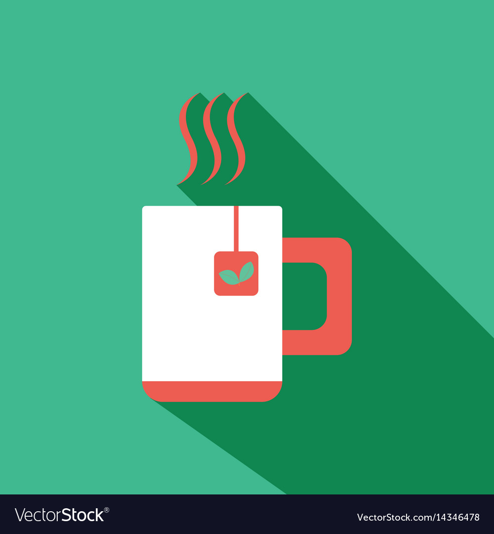 Team and coffee cup icon flat vector image