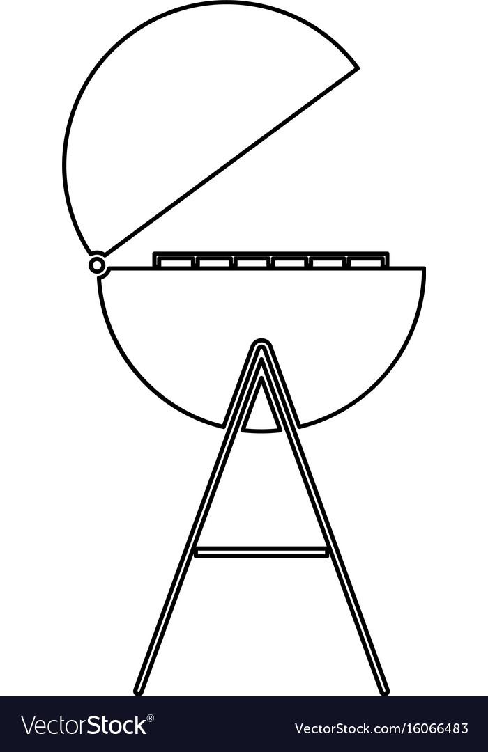 Barbecue or grill black color path icon vector image