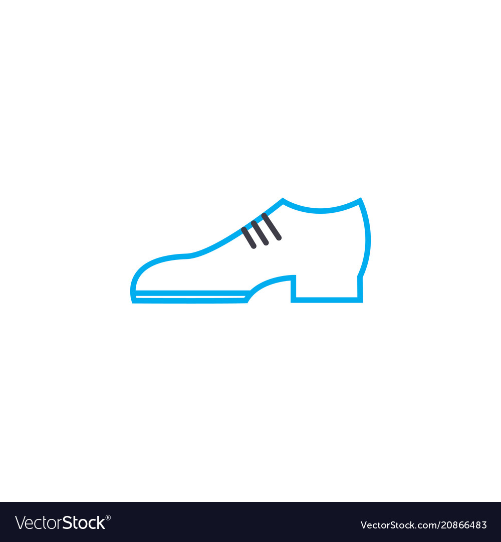 Classic shoes thin line stroke icon