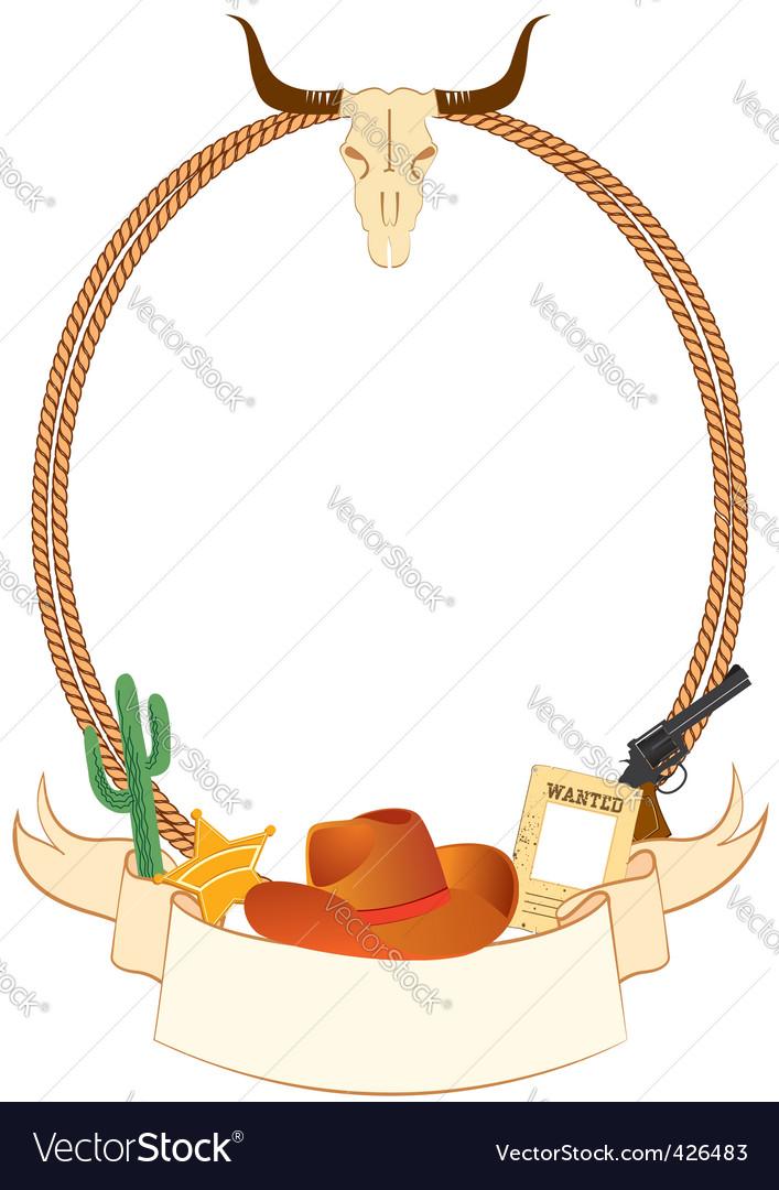 cowboy rope frame royalty free vector image - vectorstock  vectorstock