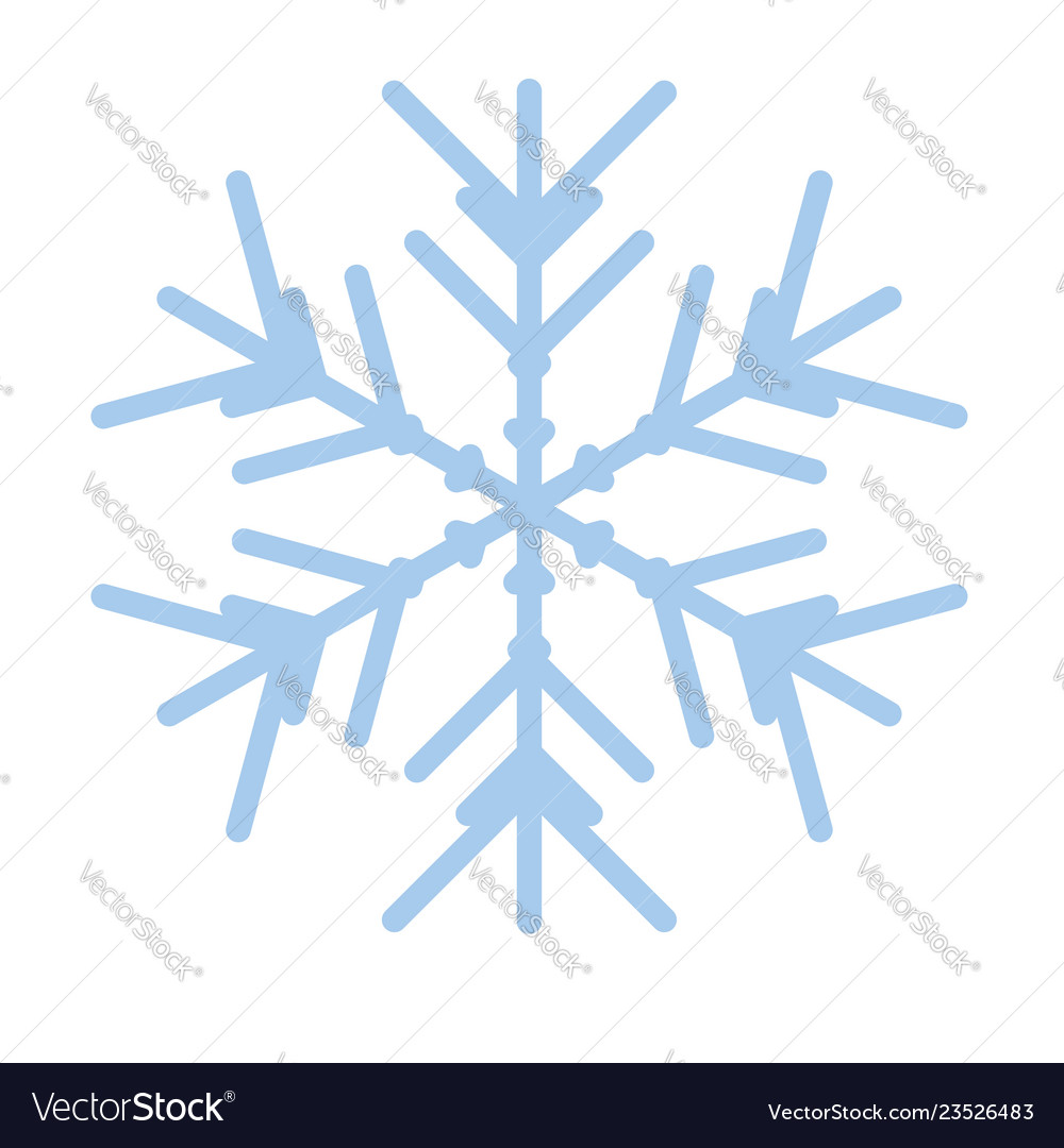 Snowflake winter new year blue art symbol icon