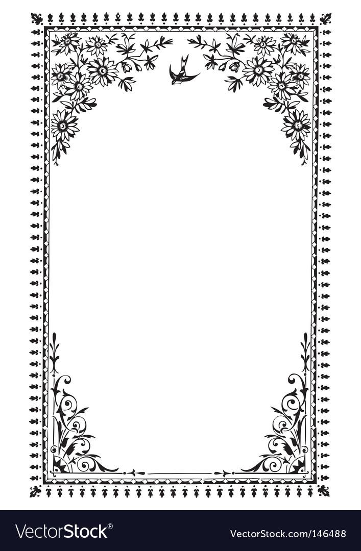 Antique frame engraving vector image