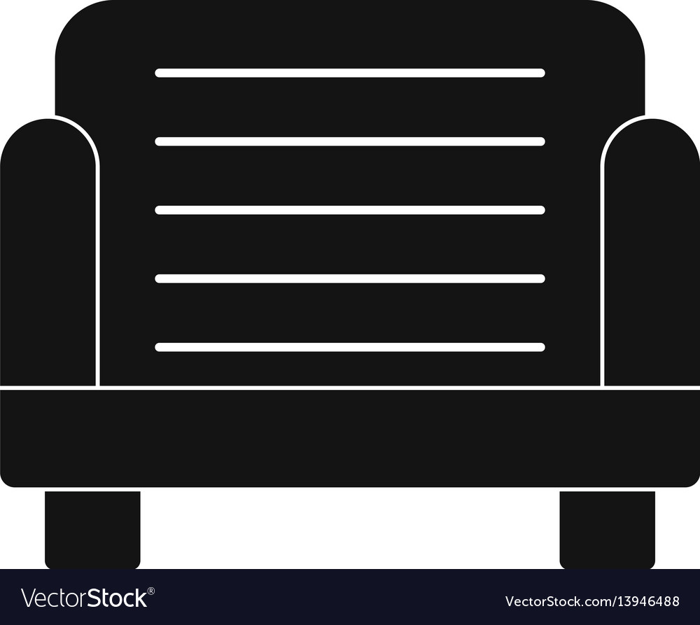 Armchair icon simple style vector image