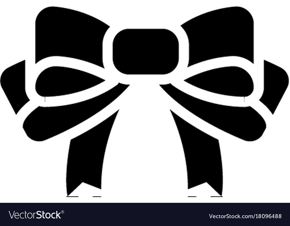 Bow icon black sign on