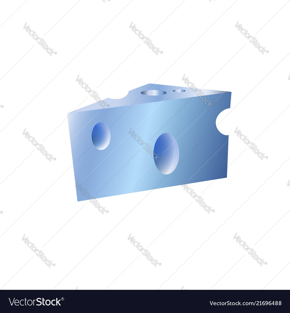 Cheese metal icon isolated flat blue stainless