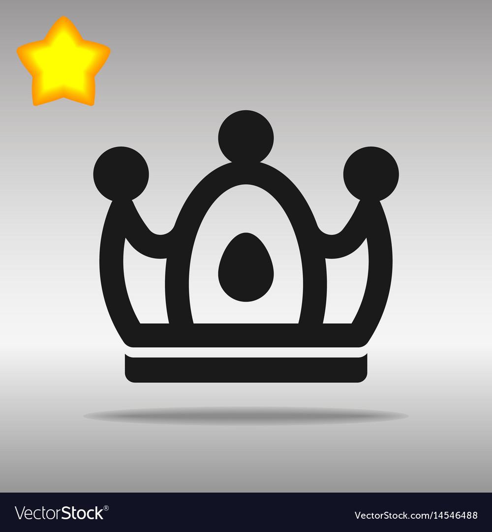 Crown black icon button logo symbol concept