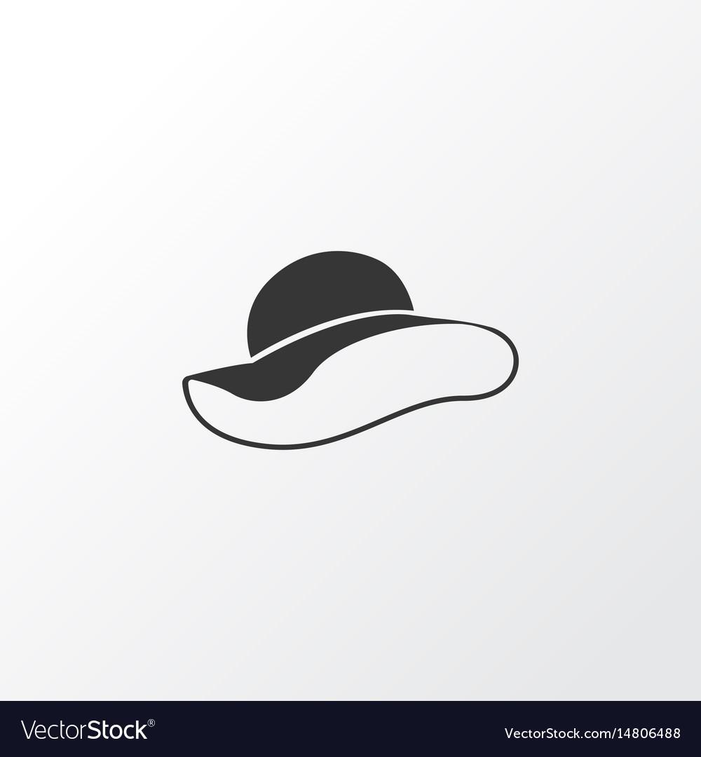 Female hat icon symbol premium quality isolated vector image