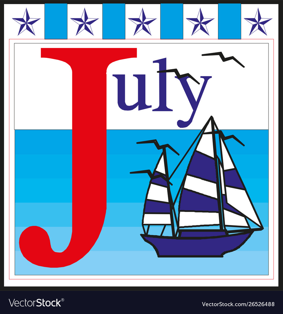 Fourth july hand lettering inscription for