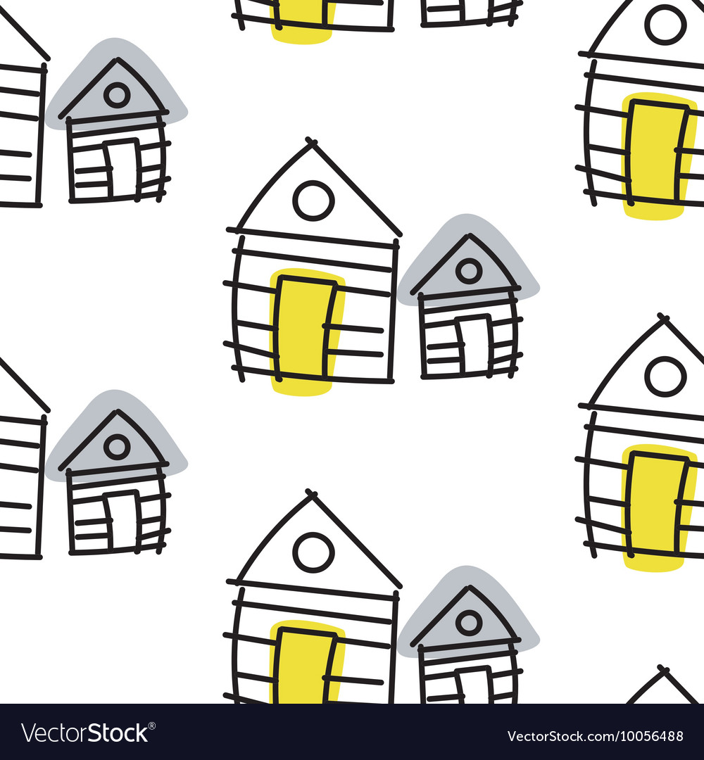 Sensational Line Hut Houses Scandinavian Ornament Hand Download Free Architecture Designs Scobabritishbridgeorg