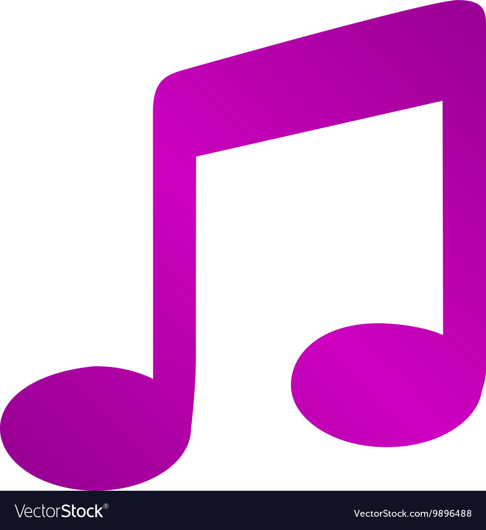Music Flat Simple Icon isolated
