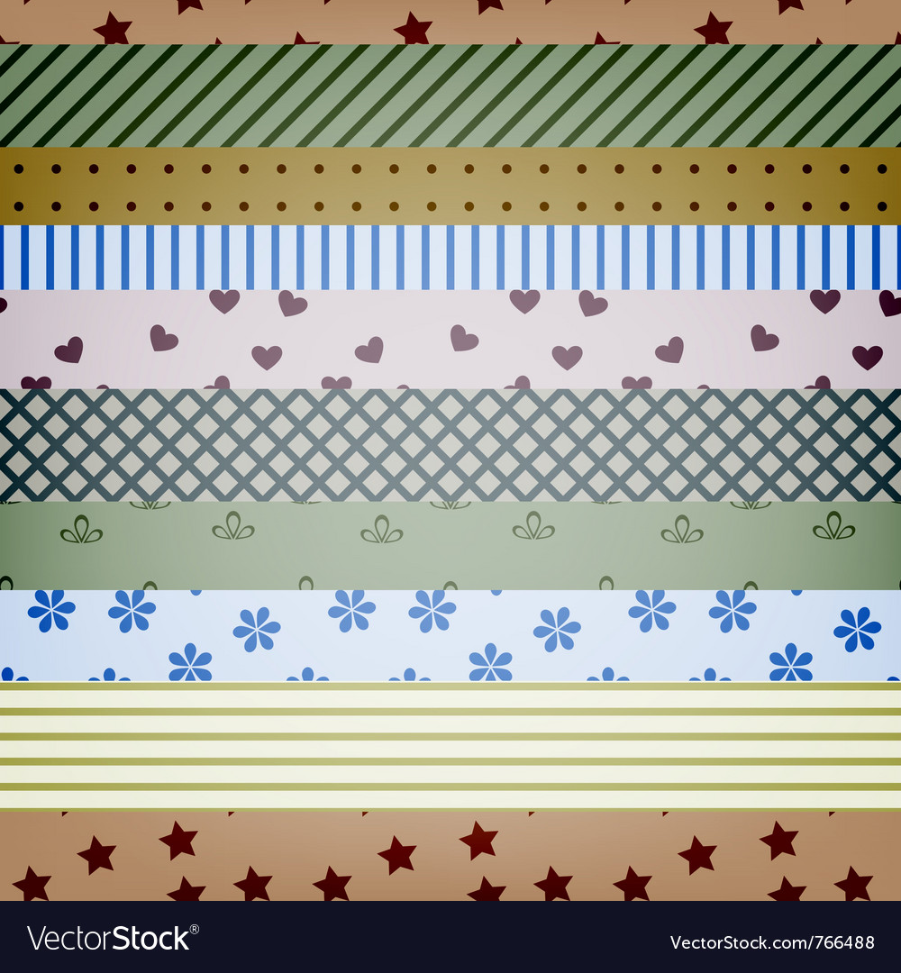 Seamless textile stripes
