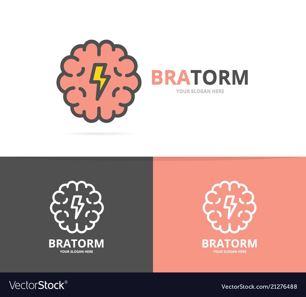 Simple brain and mind logo design template symbol