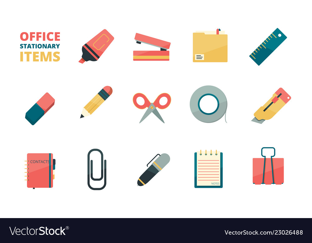 Stationary items business office tools paper