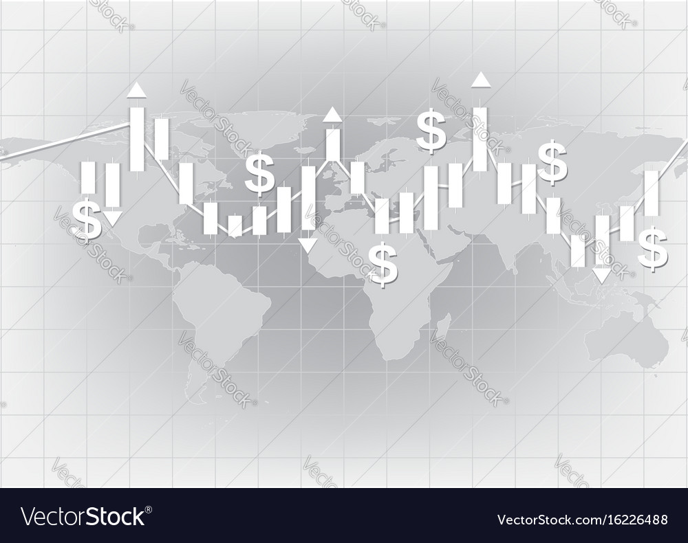 White candlestick chart showing trend background