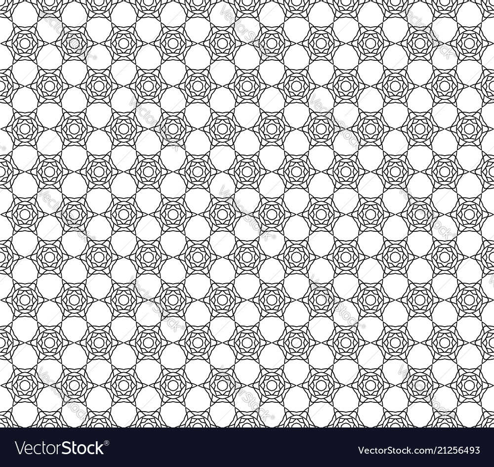 Art deco hexagonal seamless vintage wallpaper
