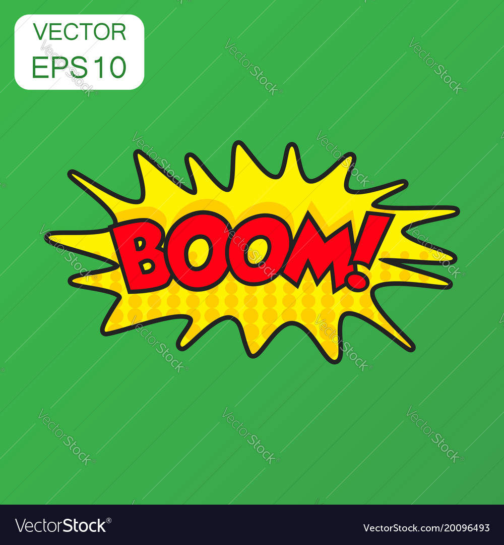 Boom comic sound effects icon business concept