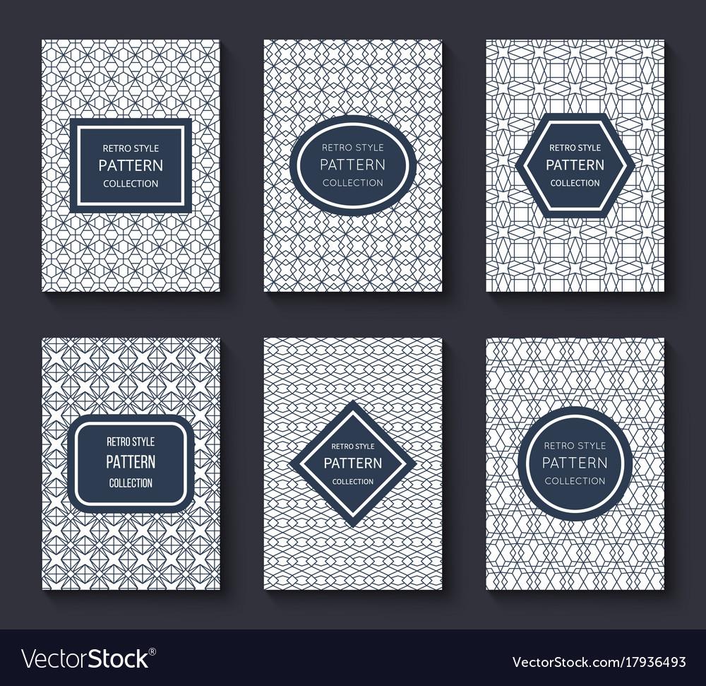 Brochure design templates with minimal