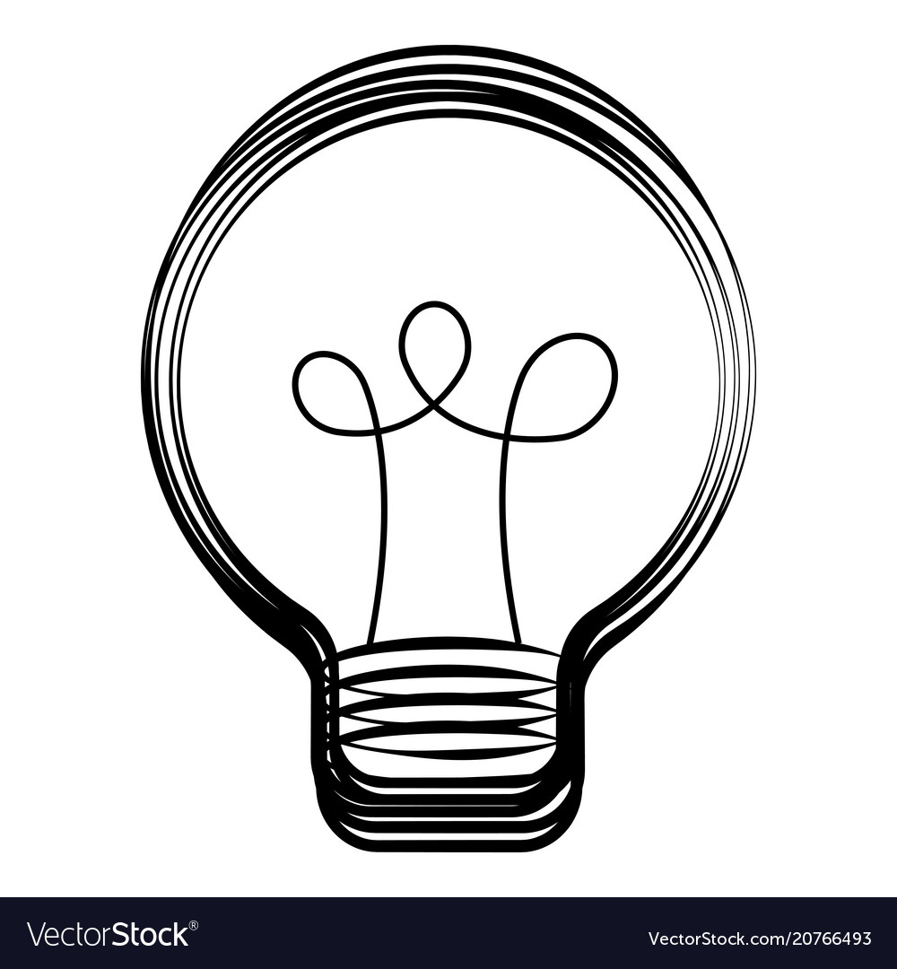 Conceptual lightbulb icon with a brain