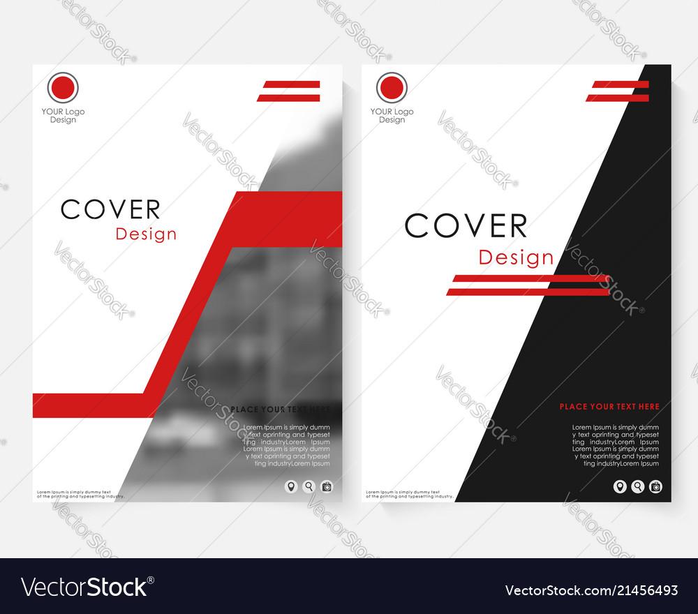 Green square annual report cover design template