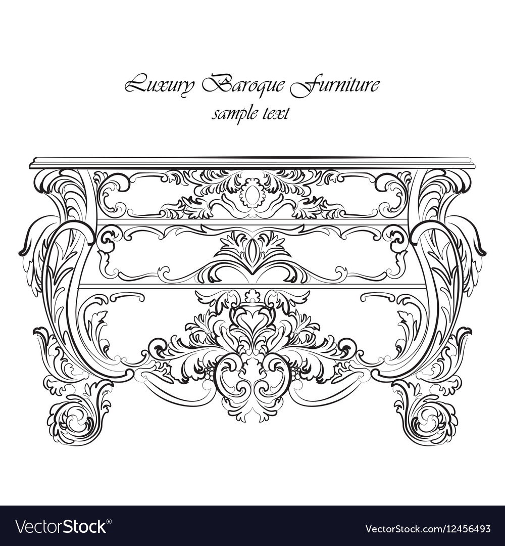 Imperial Baroque Classic commode table furniture