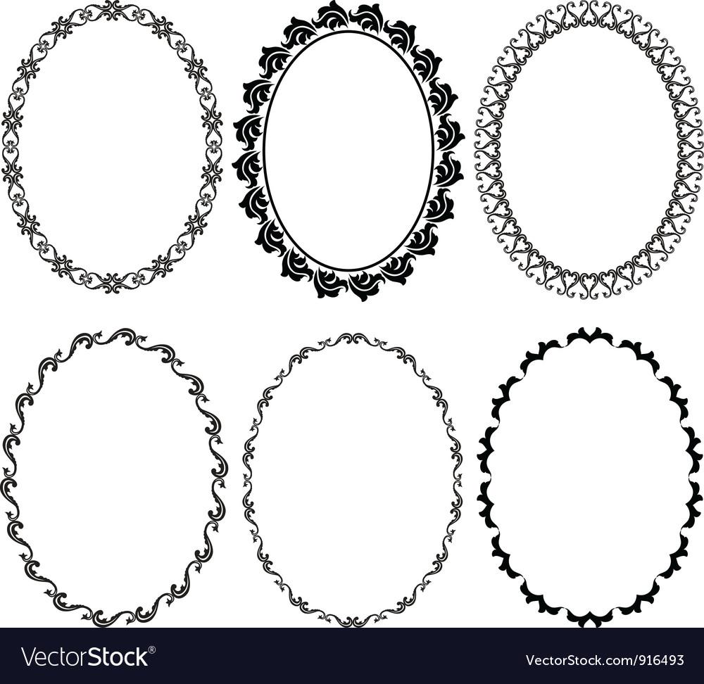 oval frames royalty free vector image vectorstock