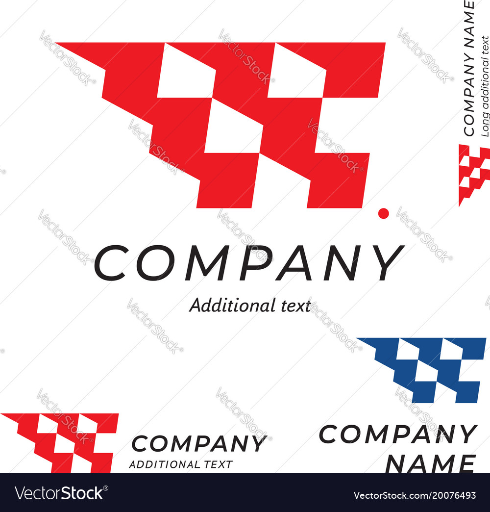 Race logo speed flag emblem shape modern simple