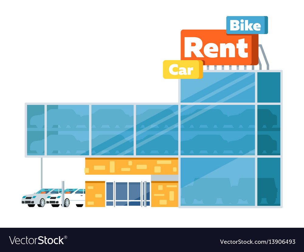 Pleasing Rental Business Conceptual Icon With Car Showroom Download Free Architecture Designs Scobabritishbridgeorg