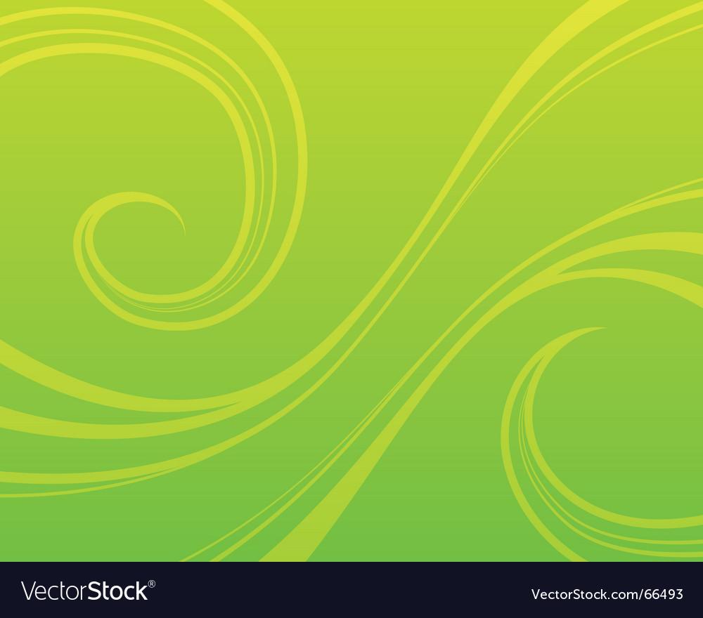 Swirly green background vector image