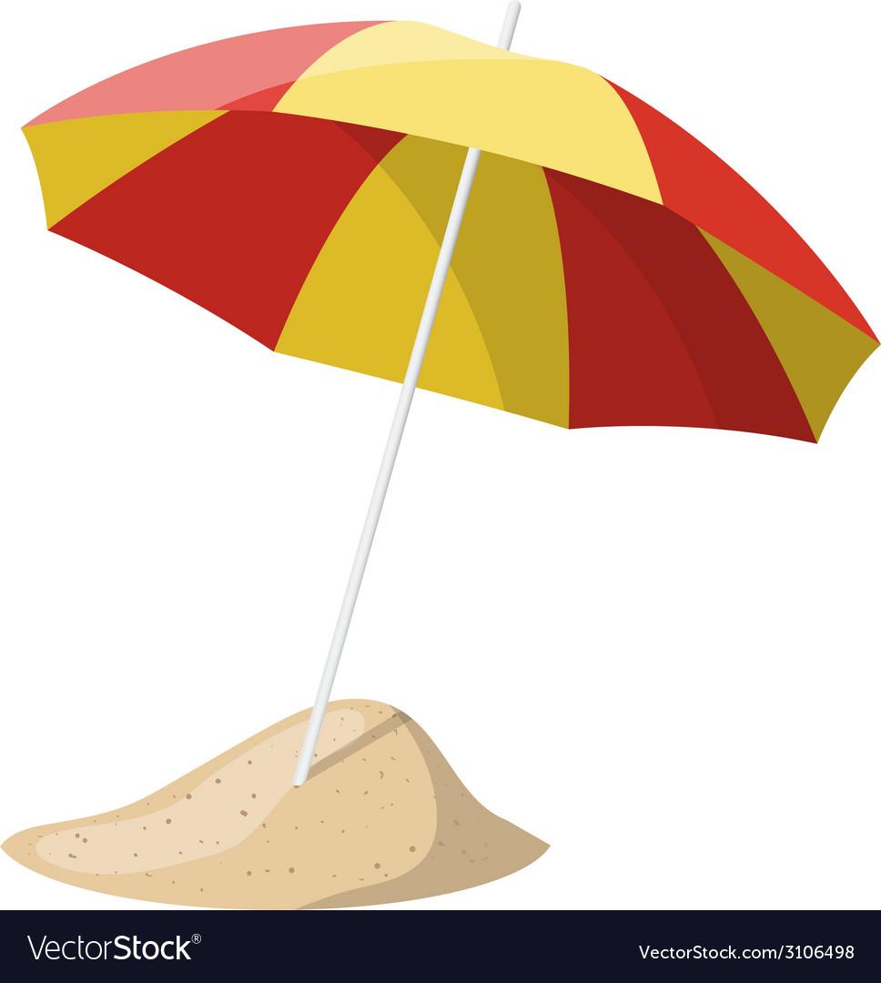Beach umbrella isolated over white background