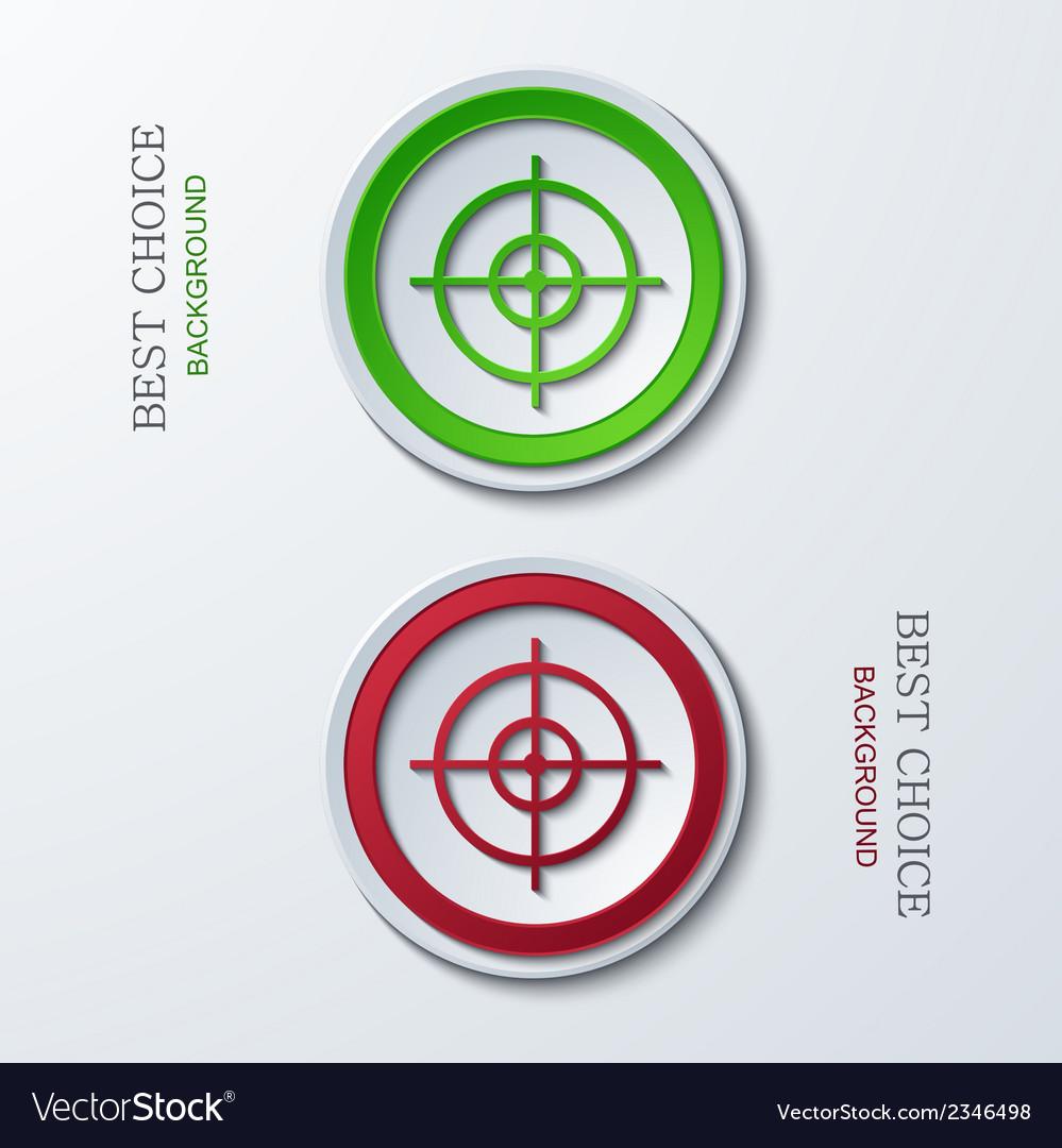 Modern circle icons vector image