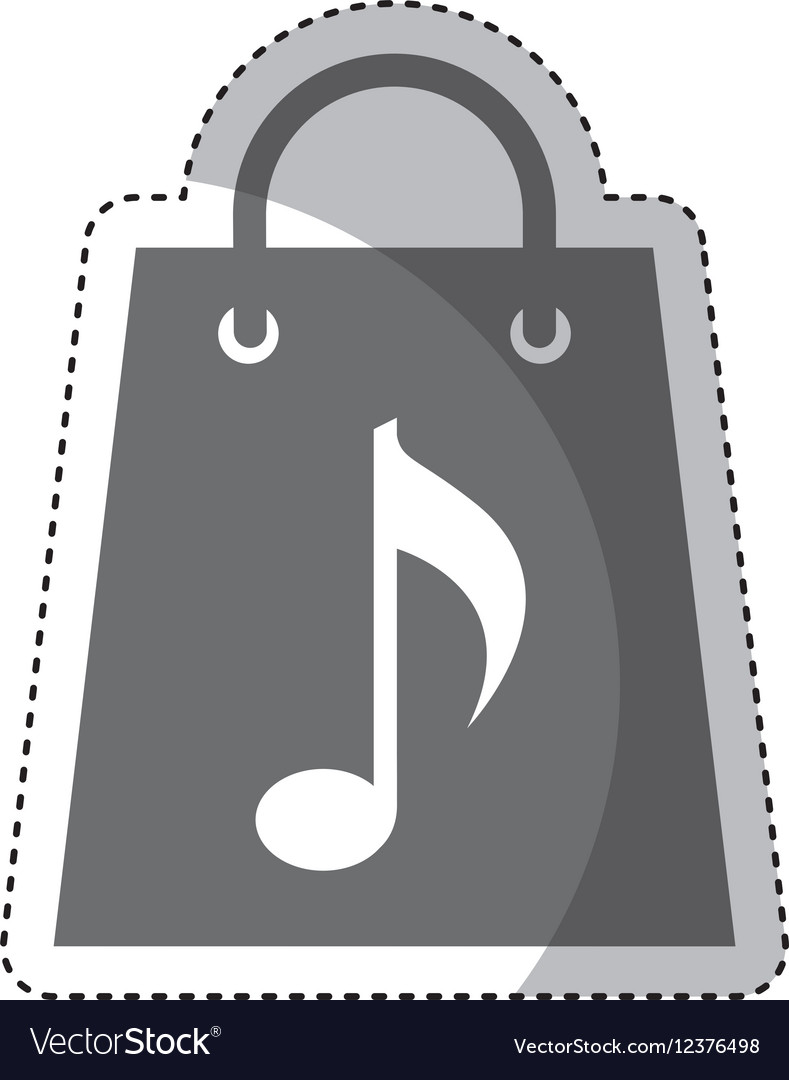 Shopping bag with music note