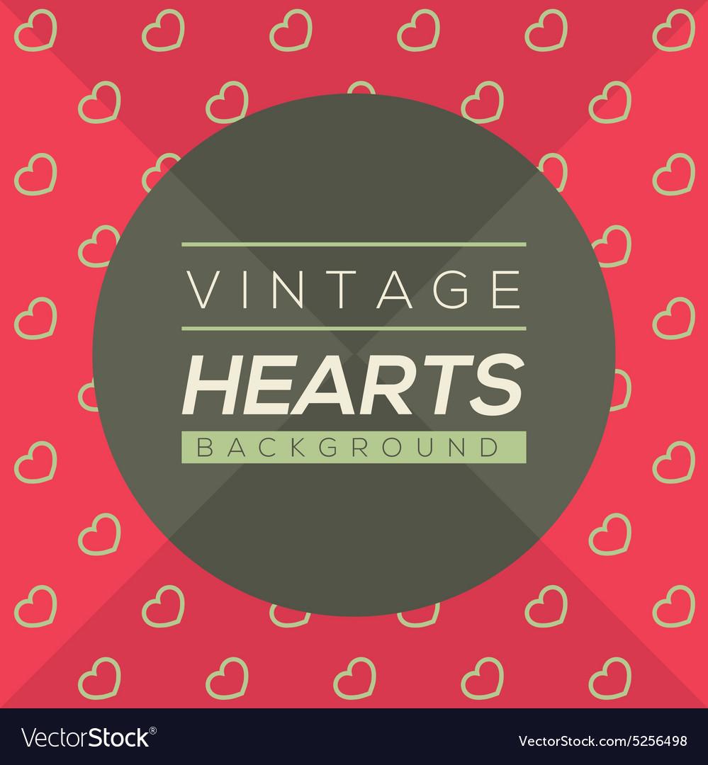 Vintage Hearts Background