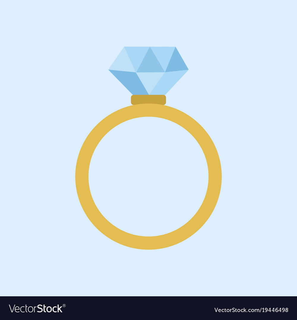 Wedding diamond ring graphic Royalty Free Vector Image