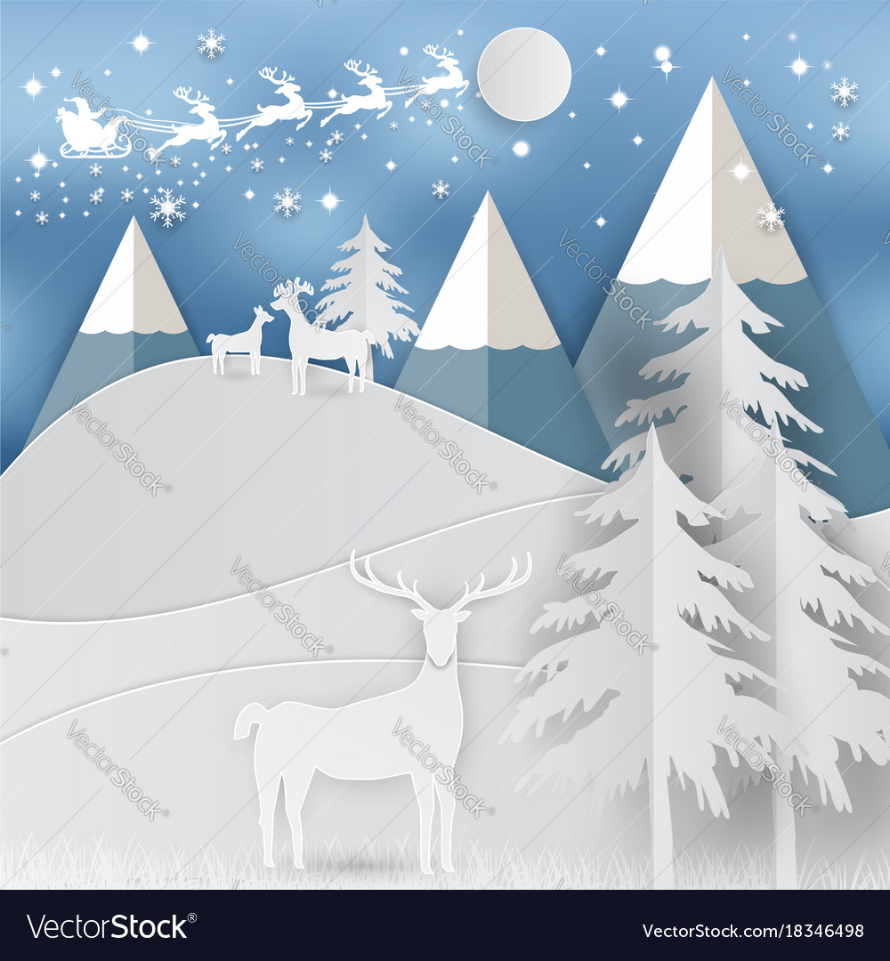 Winter holiday snow and mountain background with