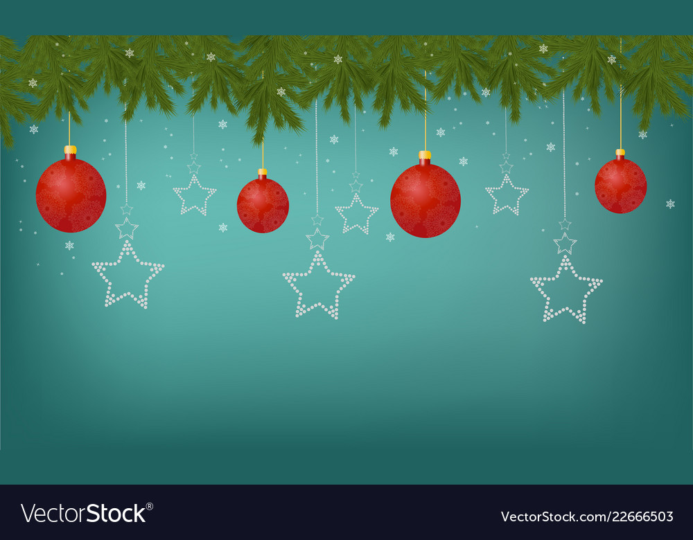 Beautiful festive greeting card with decorations