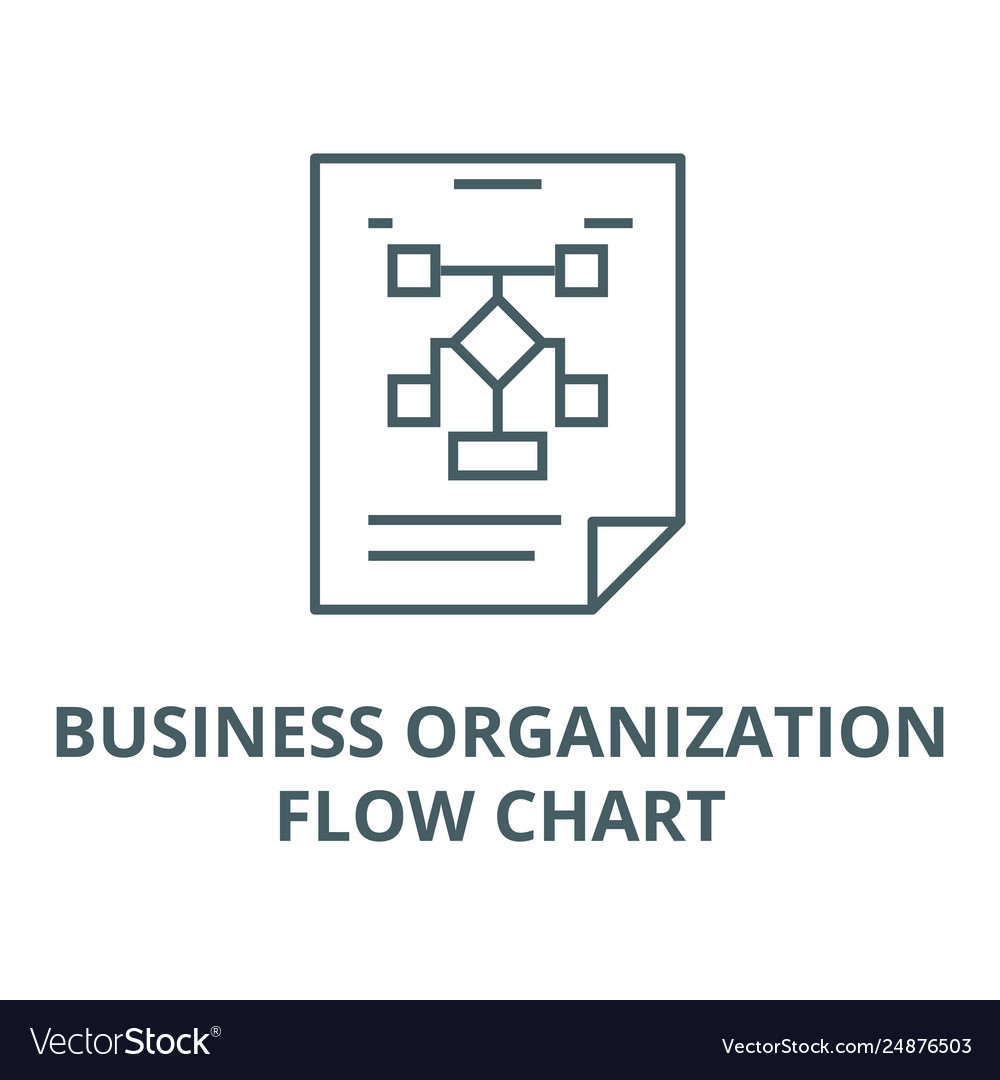 Business organizationflow chart line icon