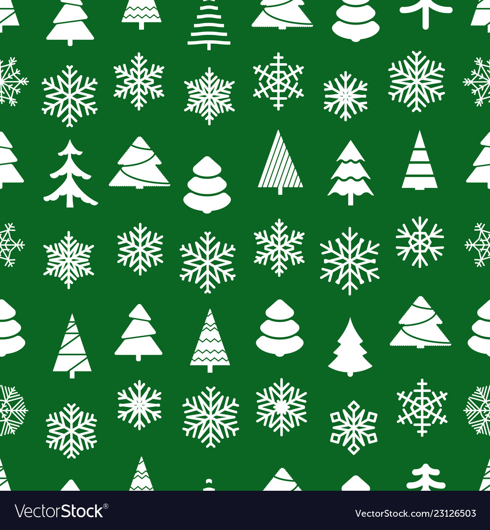 Christmas seamless background forest and
