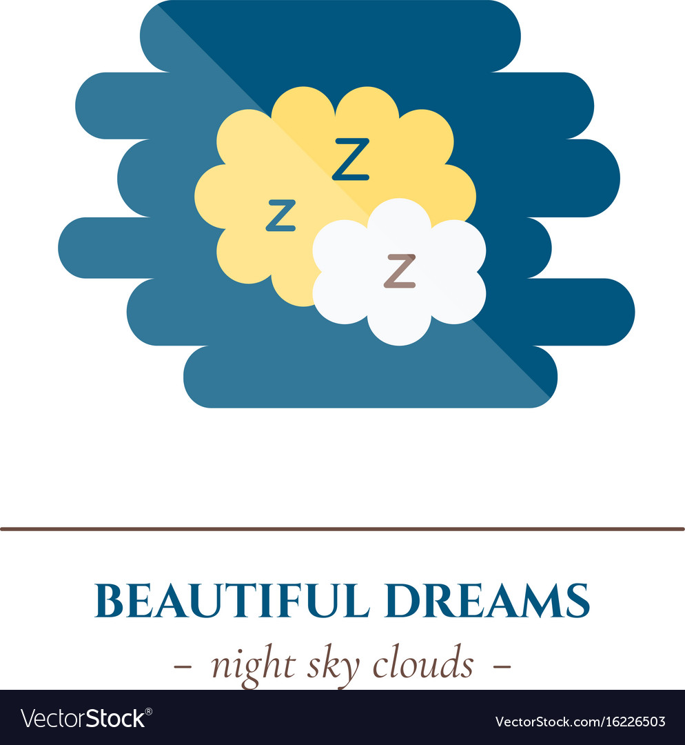 Flat sleep icon