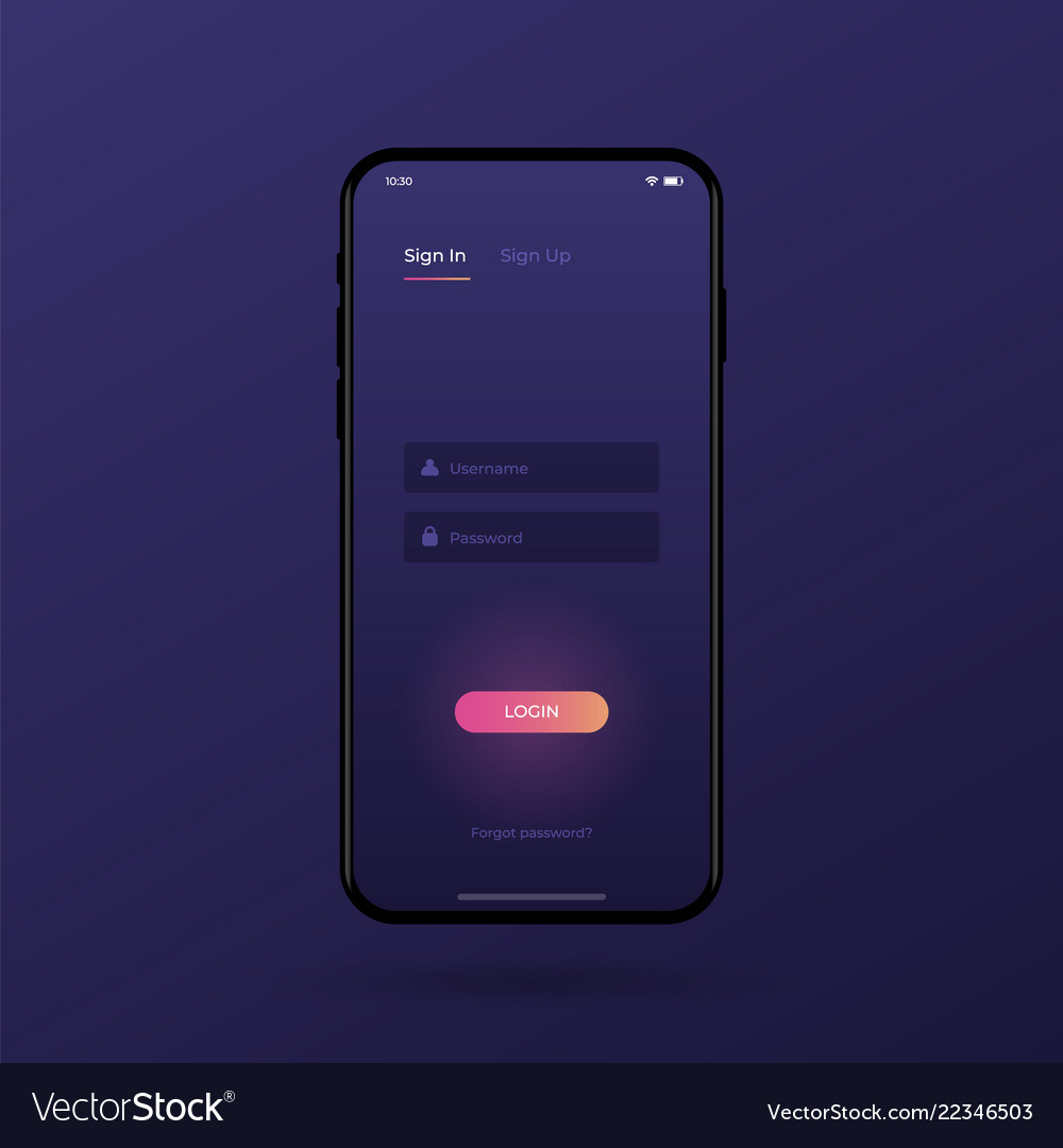 Sign up screen clean mobile ui design concept