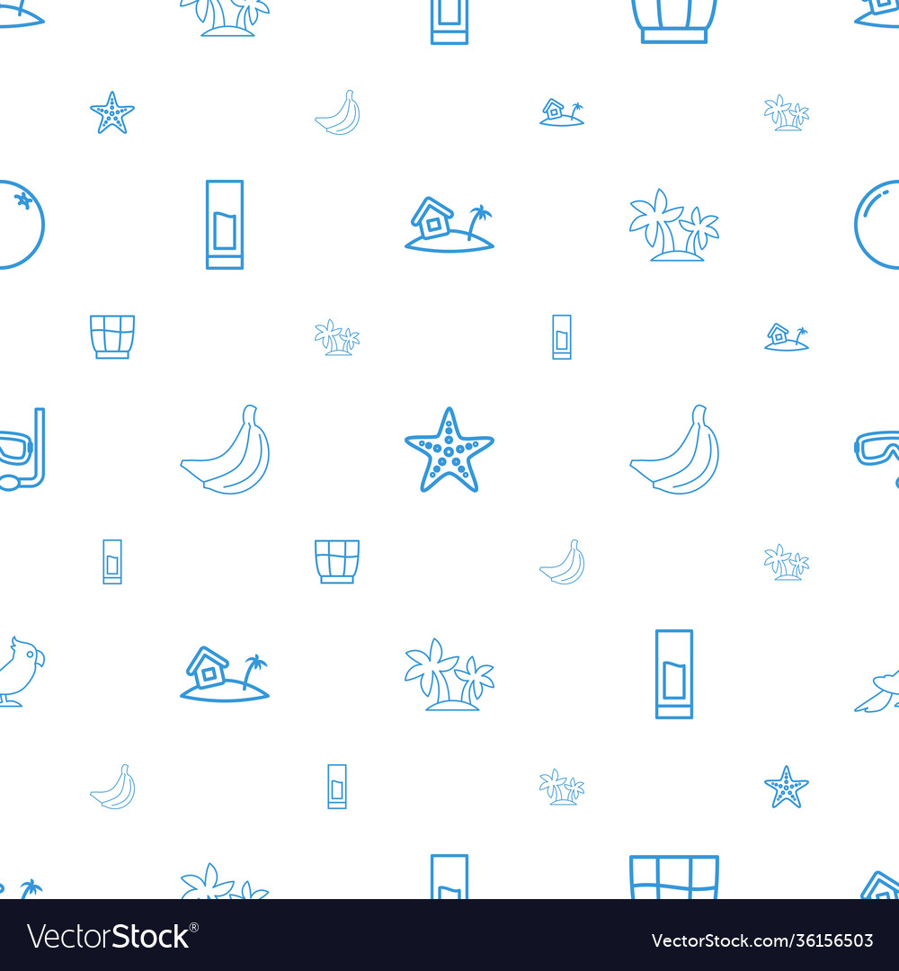 Tropical icons pattern seamless white background