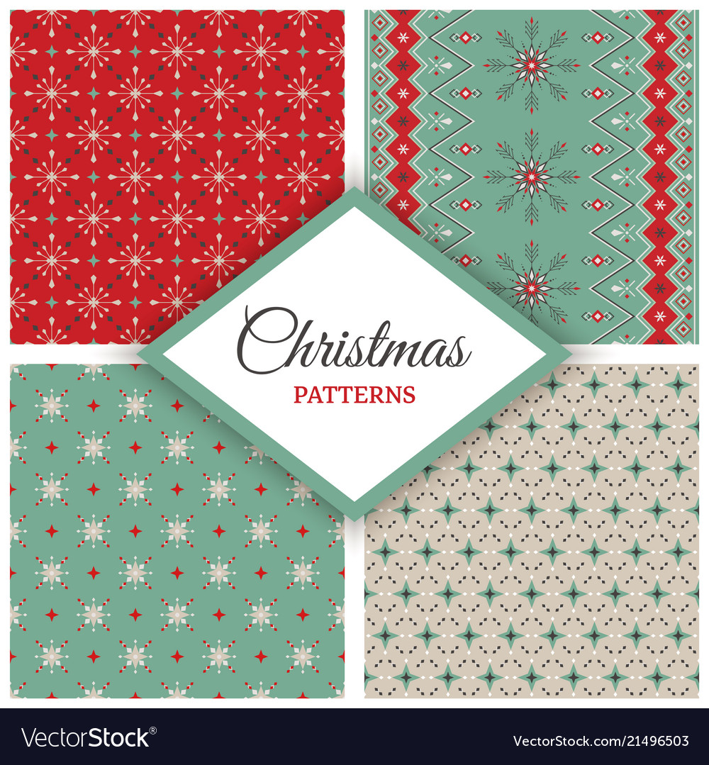 Year geometric holiday set