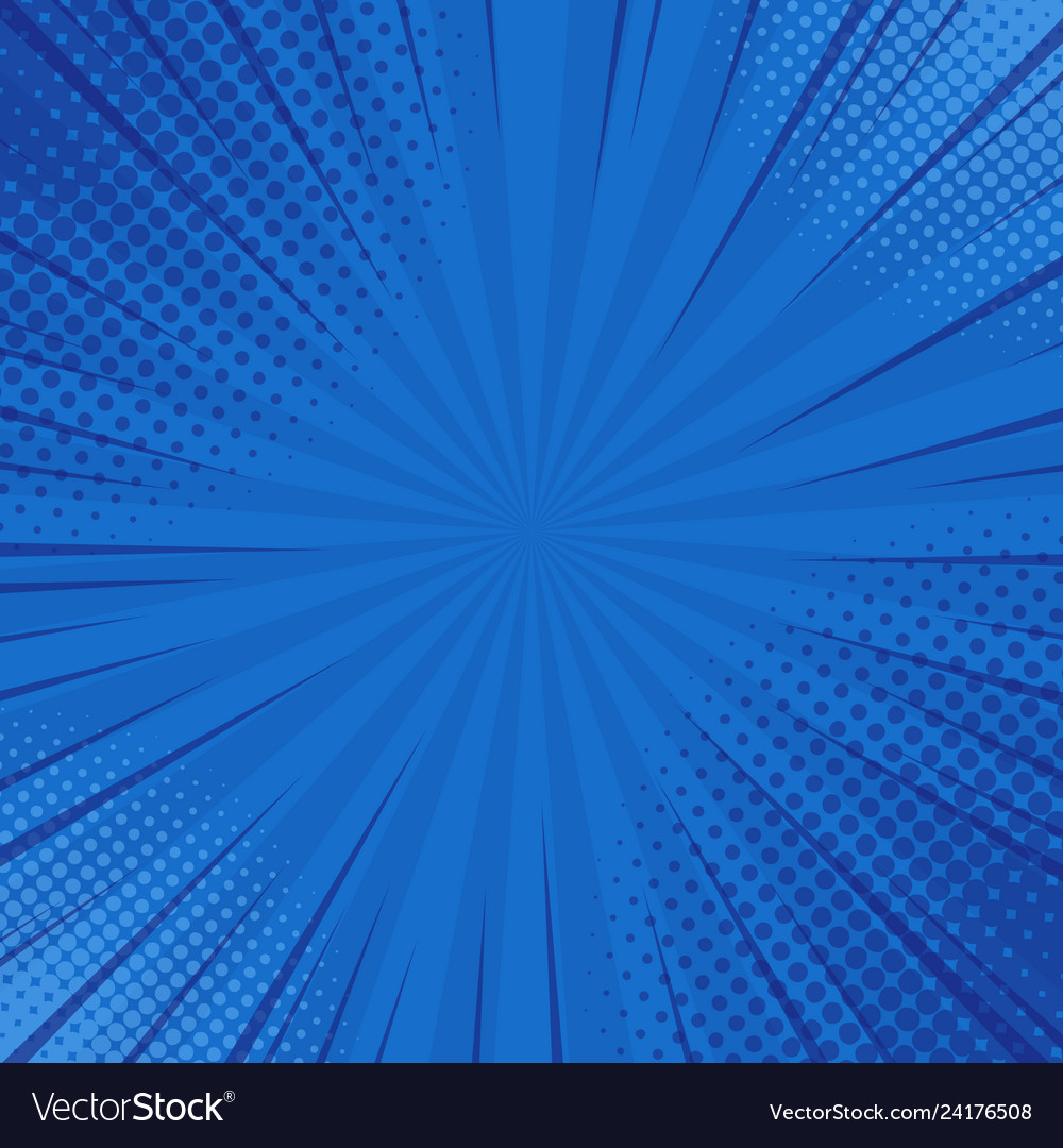 Abstract blue striped retro comic background