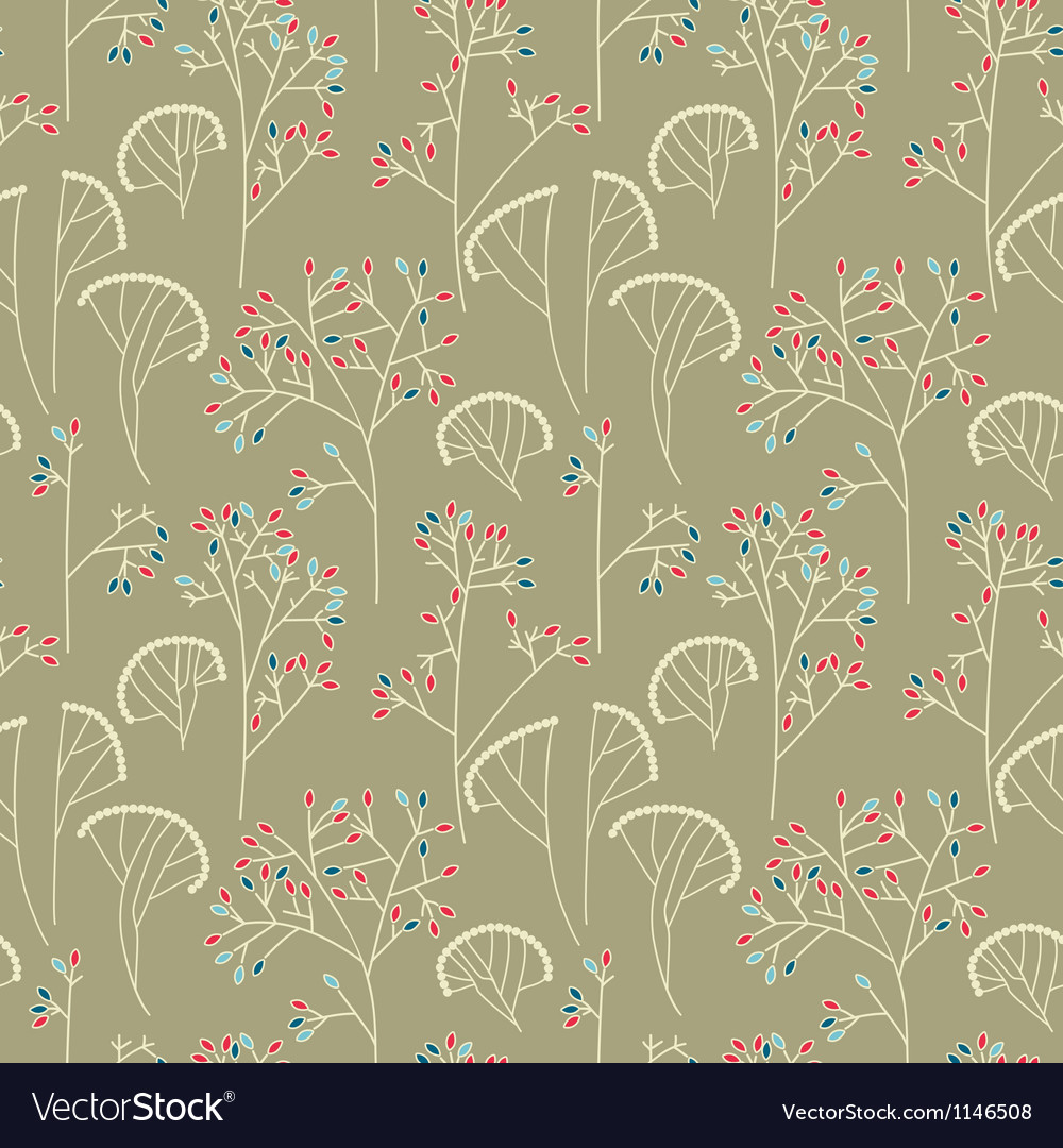 Abstract trees seamless pattern background