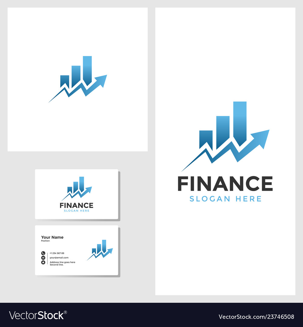 Finance business logo template with business card