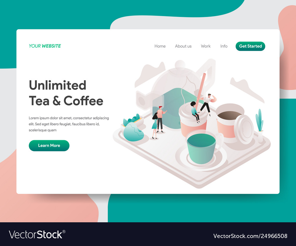 Landing page template free tea and coffee