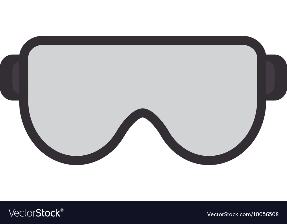 safety goggles icon royalty free vector image vectorstock