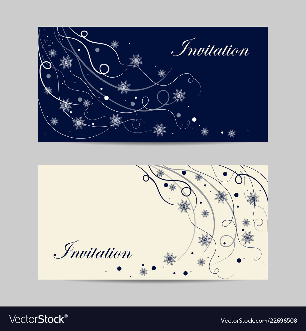 Set horizontal banners beautiful winter