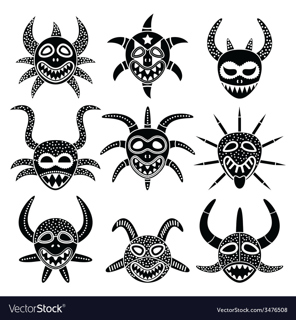Vejigante mask for Ponce Carnival in Puerto Rico vector image