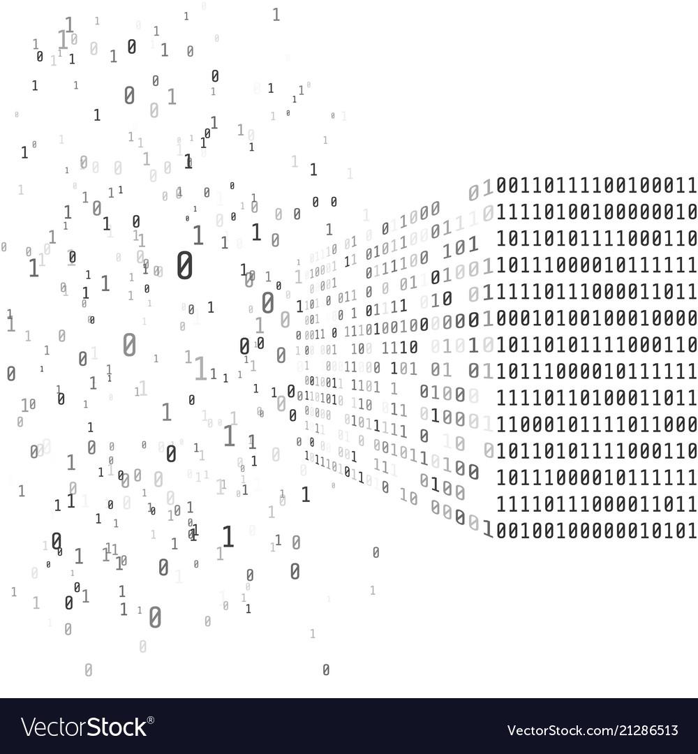 Big data concept binary matrix code artificial